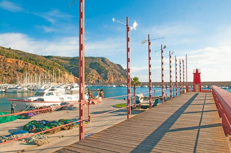 Photo of Javea port walkway