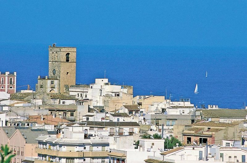 Photo Javea Church Rooftops and sea