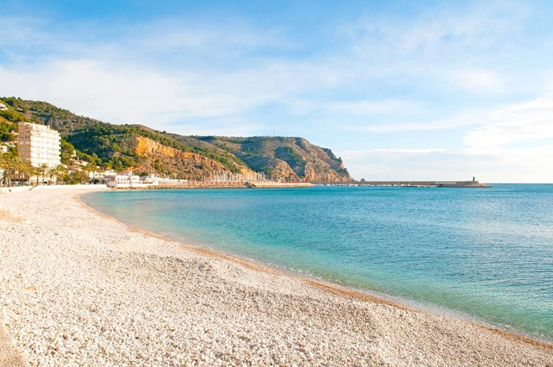 Javea Port pebble beach